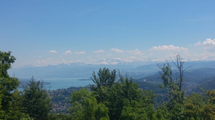 albis näkymä vuorille