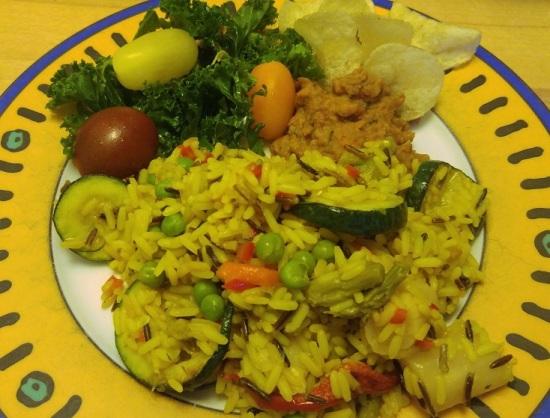 ruoka pk su kasvisrisotto lehtikaalisalaatti