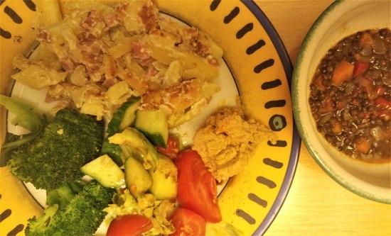 ruoka pk to kinkkukiusaus broccoli salaatti humus