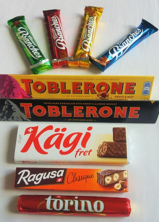 My favorite: Kägi fret, Toblerone on the second place.